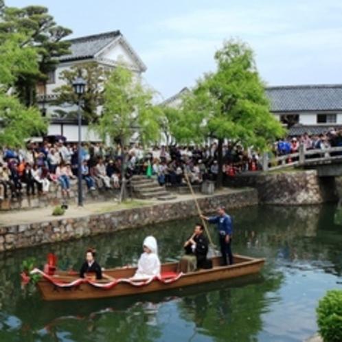 倉敷美観地区へは車で約40分くらいのところにあります。