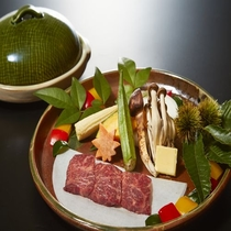 平成29年 秋 松茸入りサーロインステーキ付き懐石