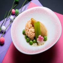 平成29年 春 鯛の子と筍、ふきの炊き合わせ