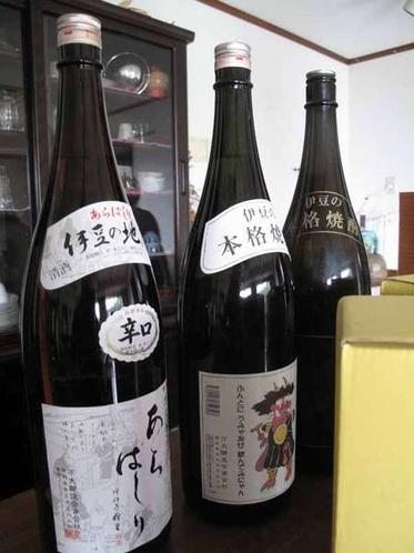 伊豆のお酒もご用意しております。