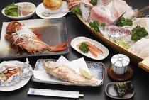 料理の一例1 ※料理内容は、季節や仕入れ状況によって多少変わります。