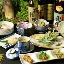 【山菜料理 全体の一例】季節限定♪山菜料理をご賞味下さい。