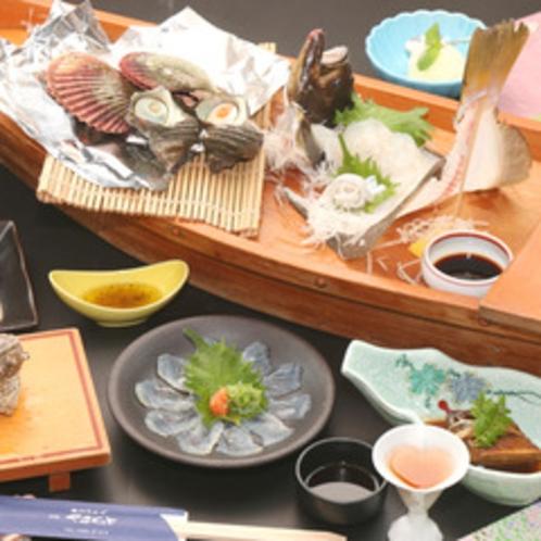 【会席一例】煮物や揚物などバラエティ豊かな献立になります