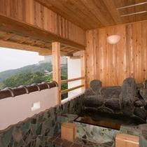 絶景貸切風呂☆ここからの、眺めも最高!!
