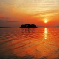 山陰随一の宍道湖夕景