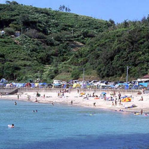 夏は日本海で海水浴