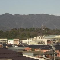 当館から望む松江城