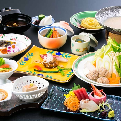 湯の里杉菜のお食事一例