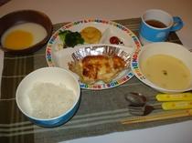 夕食の1例(小学生低学年及び幼児食)