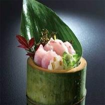 夕食一例(旬の魚のお造り)