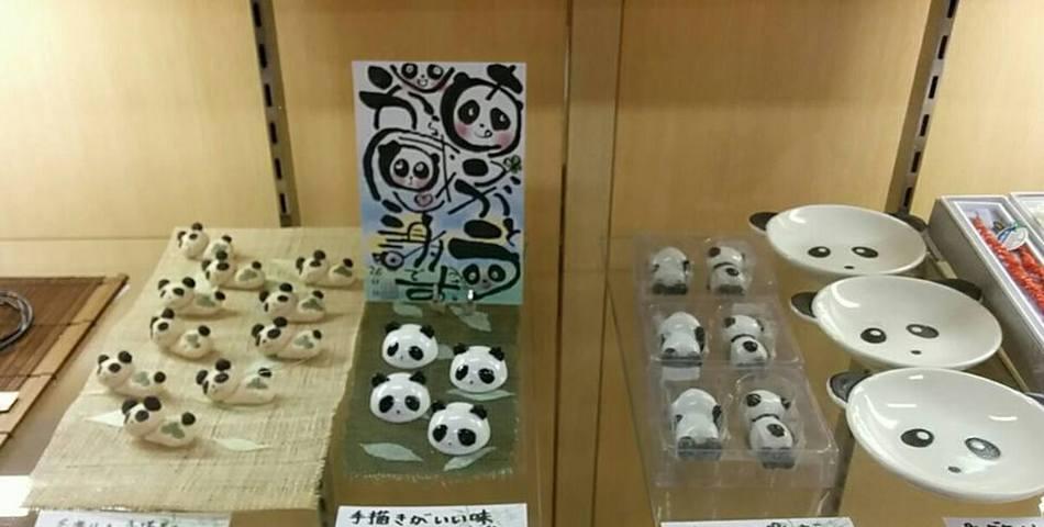 竹亭売店のパンダちゃんコーナー♪かわいいつぶやきが聞こえてきそうです☆