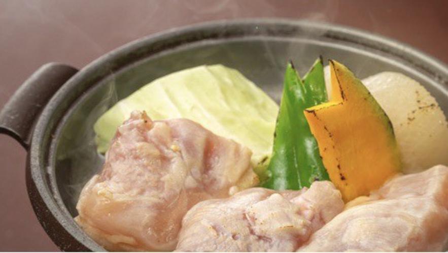 岡山森林鶏の陶板焼