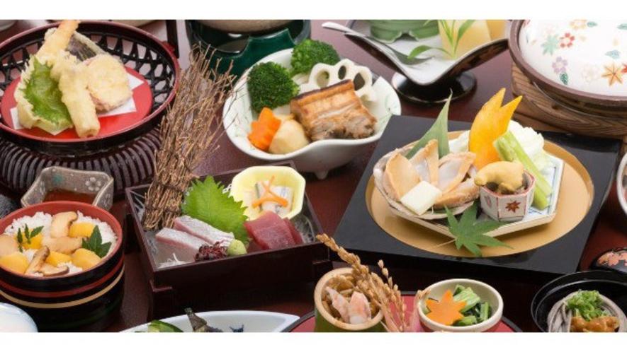 【秋のグルメ会席】松茸や栗ご飯♪
