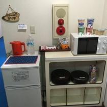 冷蔵庫、電子レンジなど
