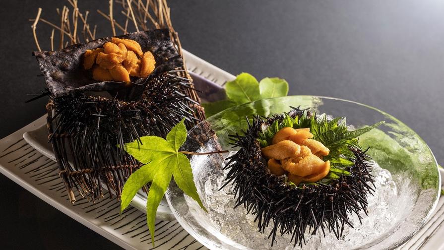 【6月〜8月◆夏の贅沢】北海道産殻付きウニを刺身&焼き、炊き込みご飯でじっくり堪能/1泊2食