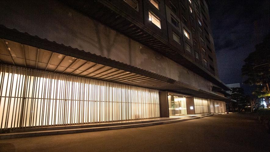 【外観】近代的なデザインに「和」を取り入れることで落ち着いて過ごせる旅館を目指します。
