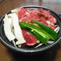 *【夕食一例】牛肉の陶板焼き