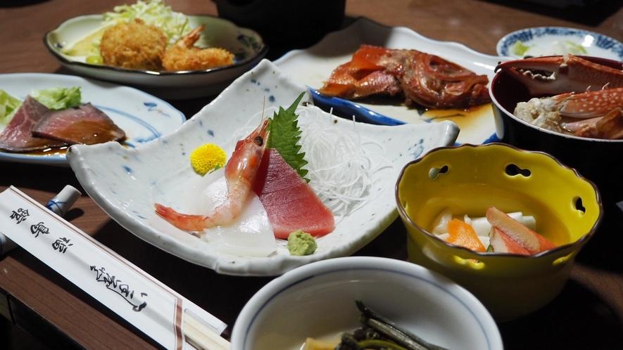 *【食事一例】箱根地産の食材を使用した家庭料理をご賞味ください。