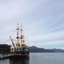 *【芦ノ湖】芦ノ湖には遊覧船があり、フリーパスでも巡れます。