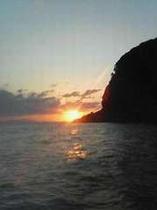 常神半島の夕日