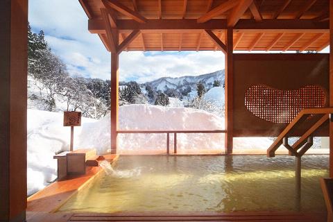 星の湯露天風呂〜冬