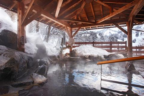 月の湯 露天風呂 冬