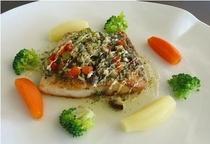 夕食の一例(魚料理)