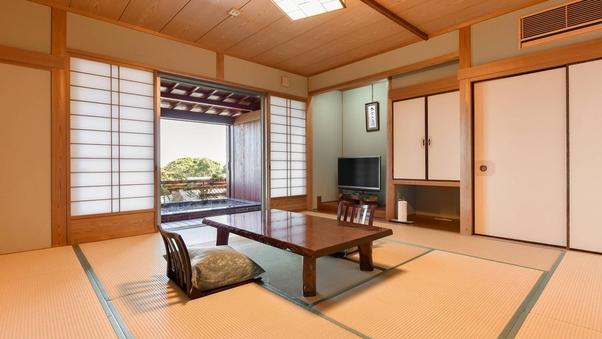 【和室12畳/2〜4名様】禁煙◆温泉露天風呂付き