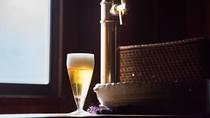 *大浴場「夢湯」のビールサーバー。1杯無料サービス♪