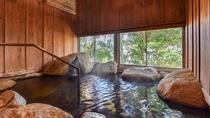 *大浴場「夢湯」。客室露天風呂と同じく、名湯・榊原温泉を使用しています。