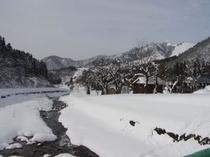 冬の大源太川