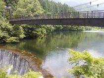 大源太湖のつり橋