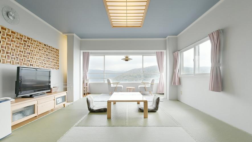 【和室】12畳★芦ノ湖ビュー★ゆったりとした空間で思い出話に花が咲きます♪