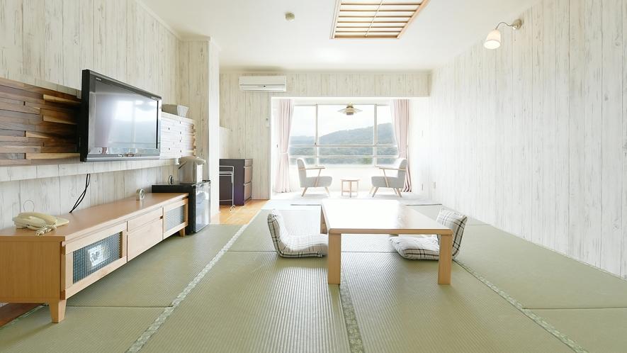 【和室】15畳★マウンテンビュー★デザイン性の高い和室です。インテリアにもこだわっております。