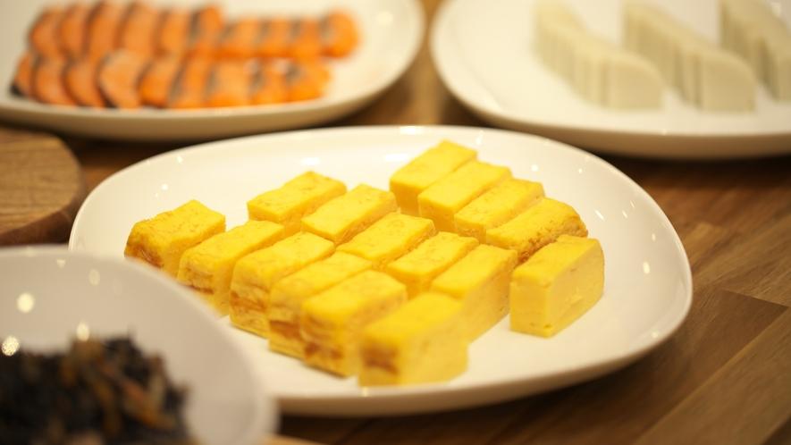 【朝食ブッフェ】朝といえば卵焼きの人、多いですよね?もちろんご用意しております♪