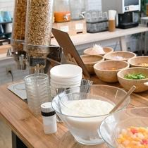 【朝食ブッフェ】ヨーグルトもあります♪