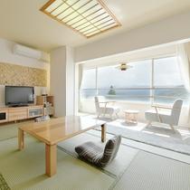 【和室】10畳★芦ノ湖ビュー★清潔感のある和室です。