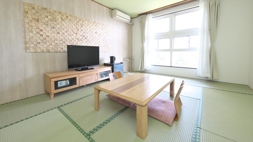 【和室】8~10畳(眺望を気にしない方向け)清潔感のある和室。