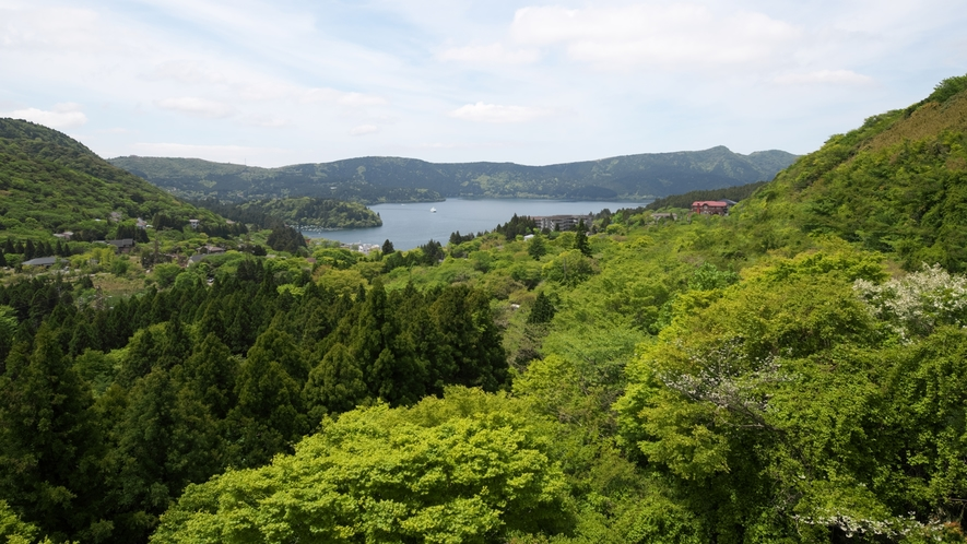 当館一番人気の『芦ノ湖ビュー』12畳のお部屋からの眺め♪