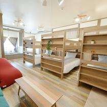 【二段ベッド】最大6名様まで宿泊可能♪
