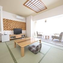【和室】10畳★芦ノ湖ビュー★明るい日差しがはいってくる心地よい空間。