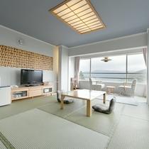 【和室】12畳★芦ノ湖ビュー★デザイン性の高い和室から芦ノ湖をお楽しみいただけます!