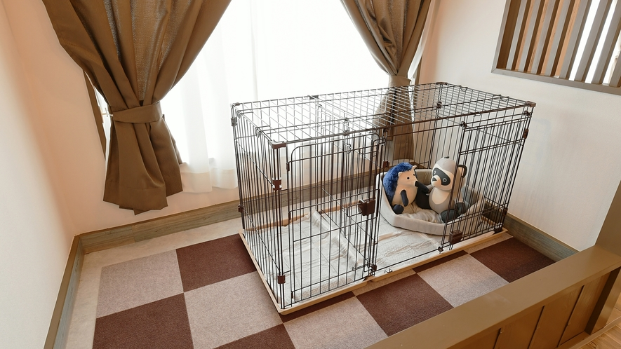 【二段ベッド】ペット同伴可能★ゲージ完備♪安心してお過ごしいただけます。