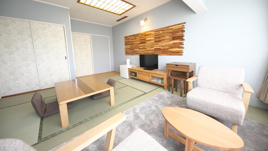 【和室】8~10畳★マウンテンビュー★デザイン性の高い和室です。ゆっくりとお過ごしください♪