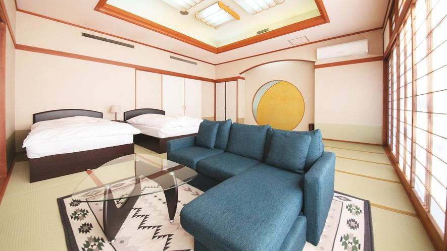 本館(2号館)1階◆和モダン客室<21畳+ツインベッド>