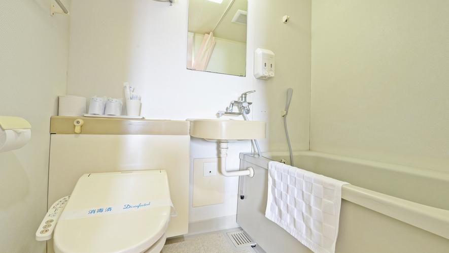 *【客室/ユニットバス】トイレは洗浄器付きです。