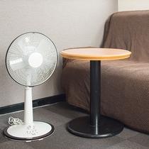 *客室には扇風機をご用意。真夏も快適です♪