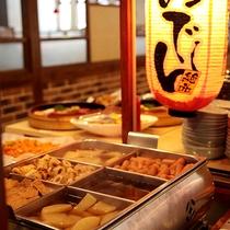 *料理/夕食:おでんコーナー!沖縄料理てびちも入ってます!