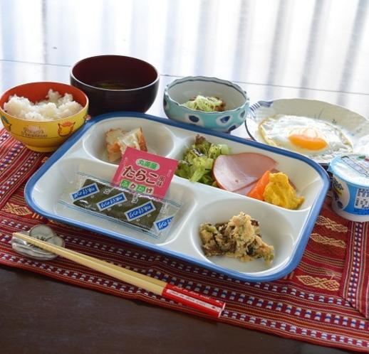 コロナウイルス対策時 お膳 お子様用朝食