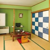 和室8畳(客室一例)/ファミリーでのご宿泊に◎畳のお部屋で団欒のひと時をお過ごし下さい。